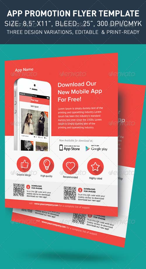 GraphicRiver Modern App Flyers
