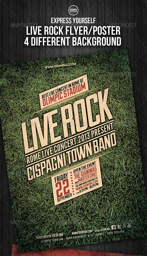 GraphicRiver Live Rock Flyer/Poster
