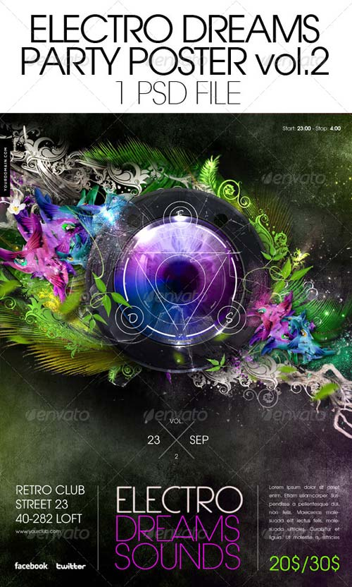 GraphicRiver Electro Dreams Poster vol. 2
