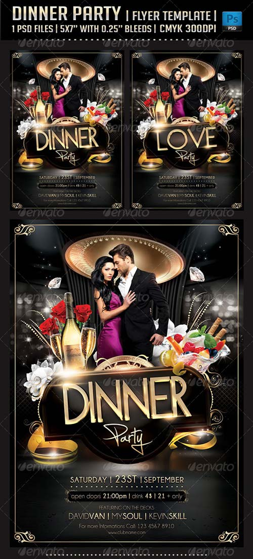 GraphicRiver Dinner Party Flyer Template