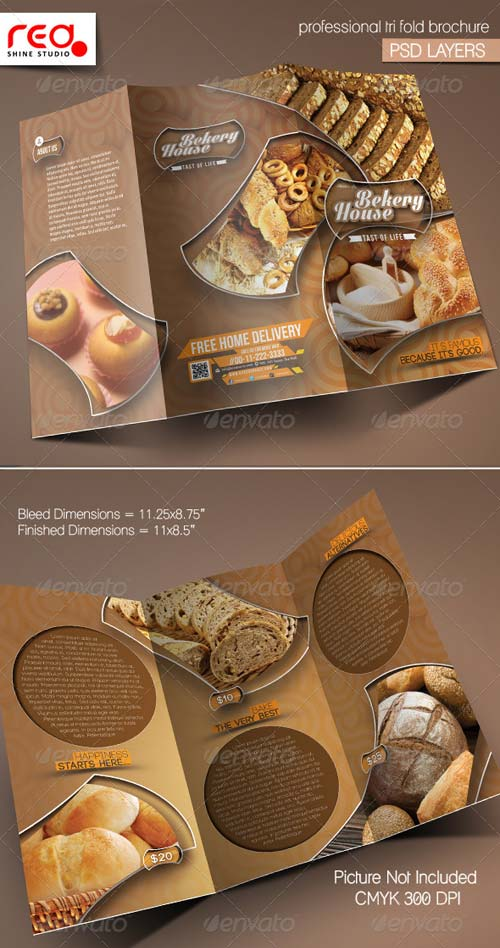 GraphicRiver Bekery House Trifold Brochure Template