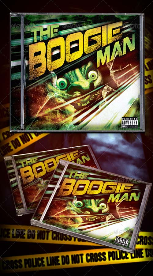 GraphicRiver The Boogie Man Mixtape/Cd Cover