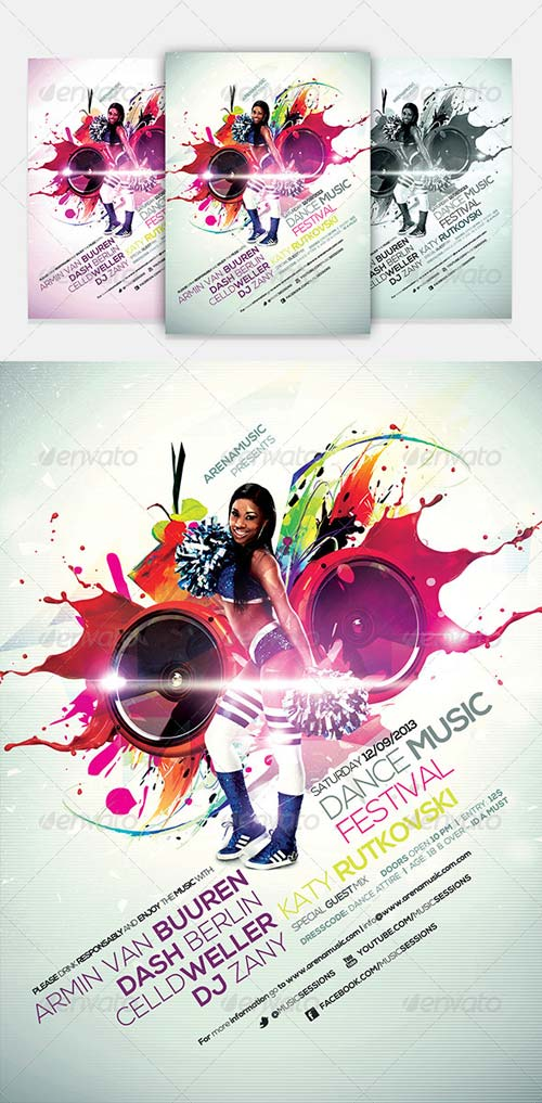 GraphicRiver Dance Music Flyer Template