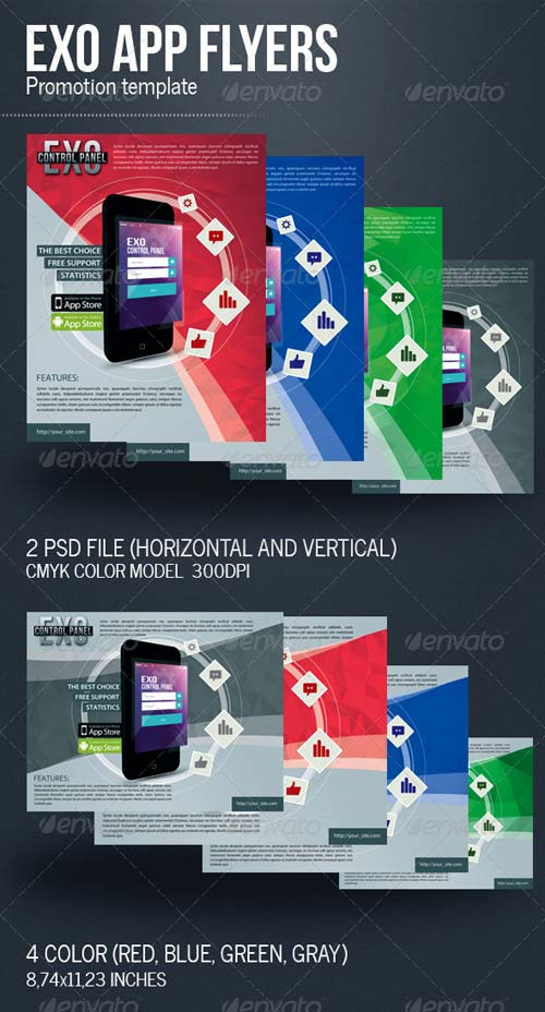 GraphicRiver Exo App Flyers