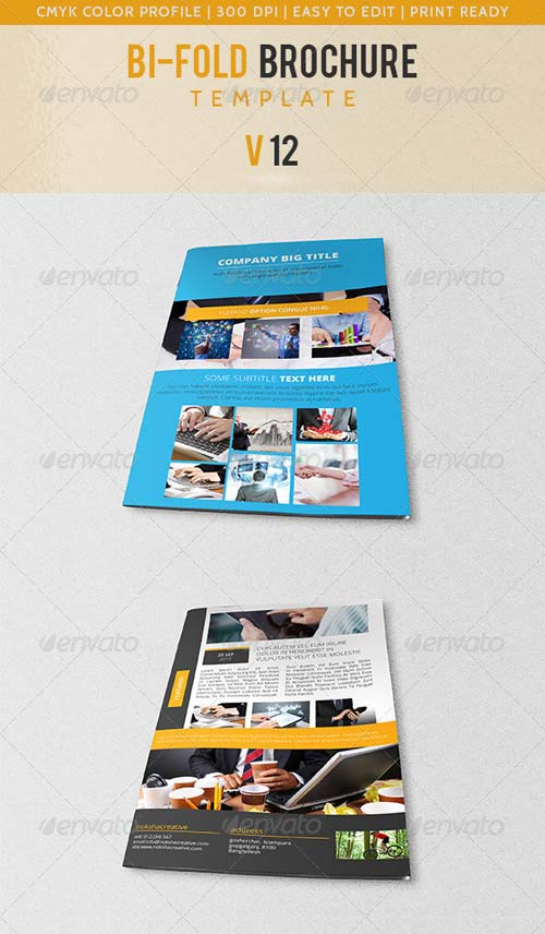 GraphicRiver Bi-Fold Corporate Brochure V-12