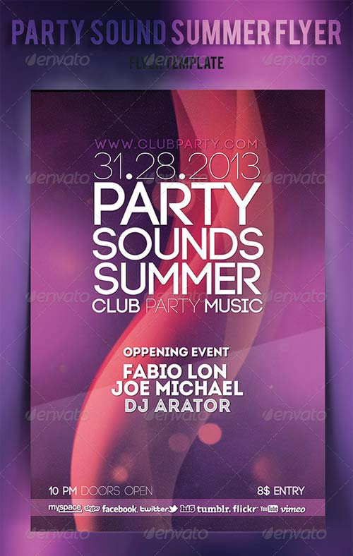 GraphicRiver Party Sound Summer Flyer