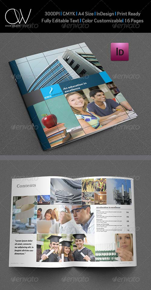 GraphicRiver Education Brochure Template - 16 Pages