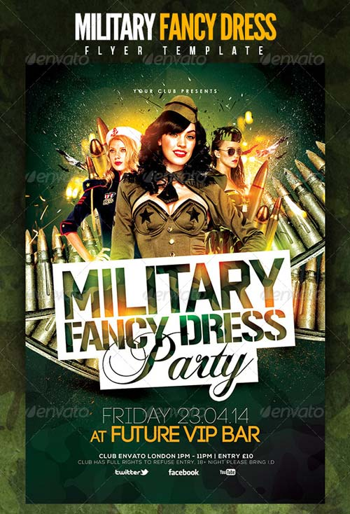 GraphicRiver Military Fancy Dress Party