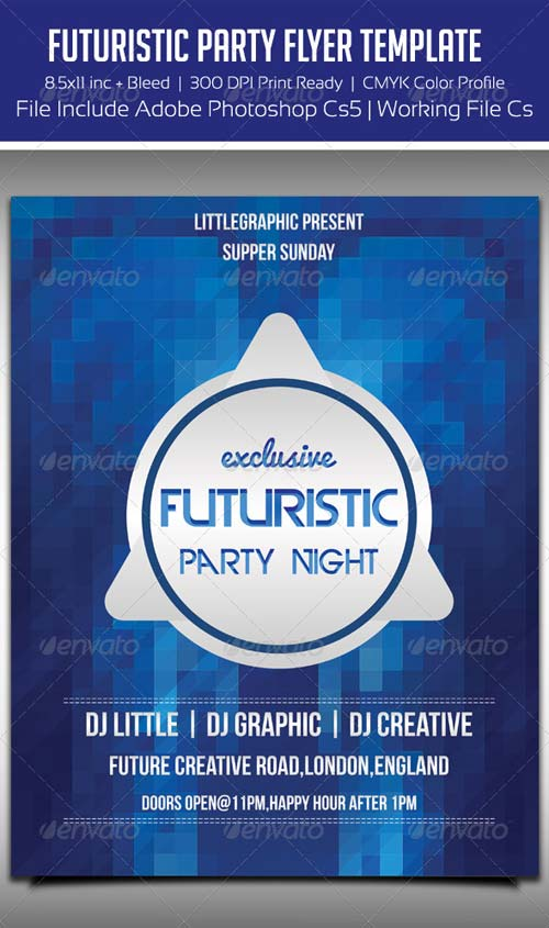 GraphicRiver Future Flyer Template 3