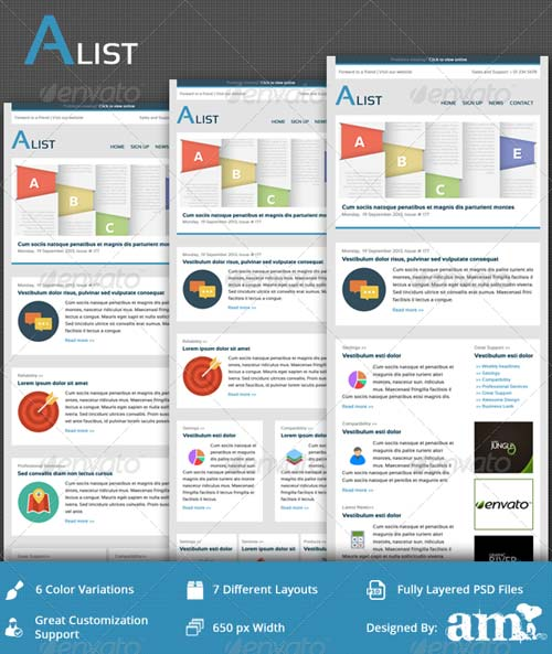 GraphicRiver Alist - Clean Business Email PSD Template