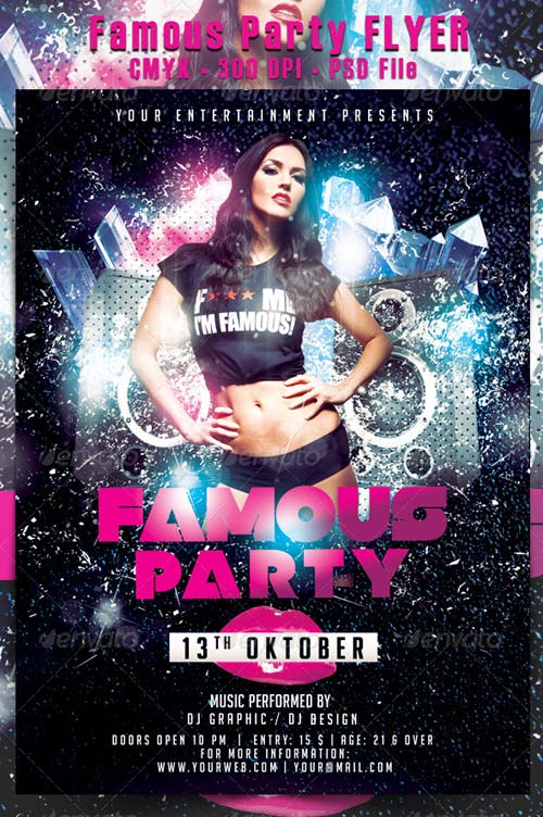 GraphicRiver Famous Party Flyer