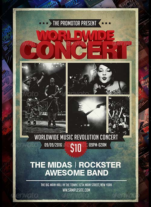 GraphicRiver Worldwide Music Concert Flyer