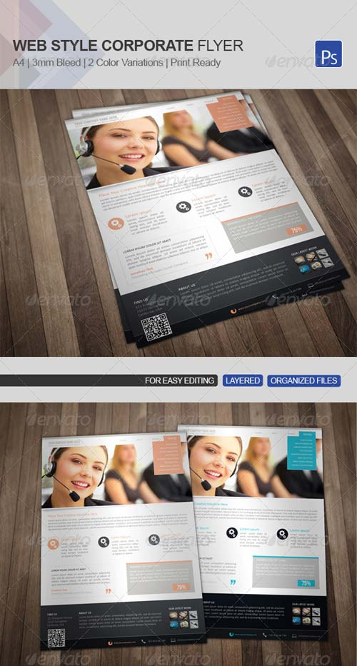 GraphicRiver Web Style Corporate Flyer 08