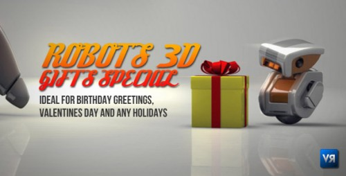 Robots 3D gifts special - After Effects Project (Videohive)