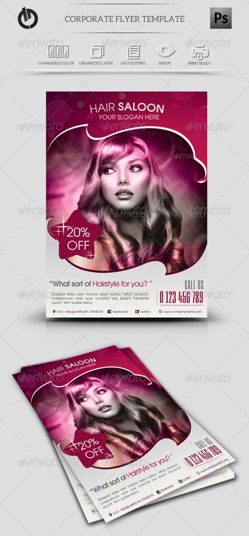 GraphicRiver Beauty Saloon Flyer Template