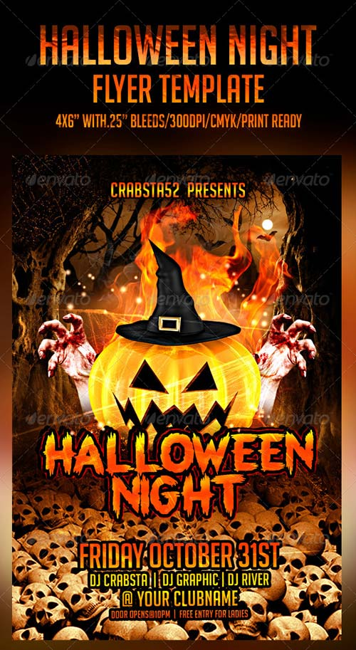 GraphicRiver Halloween Night Flyer Template