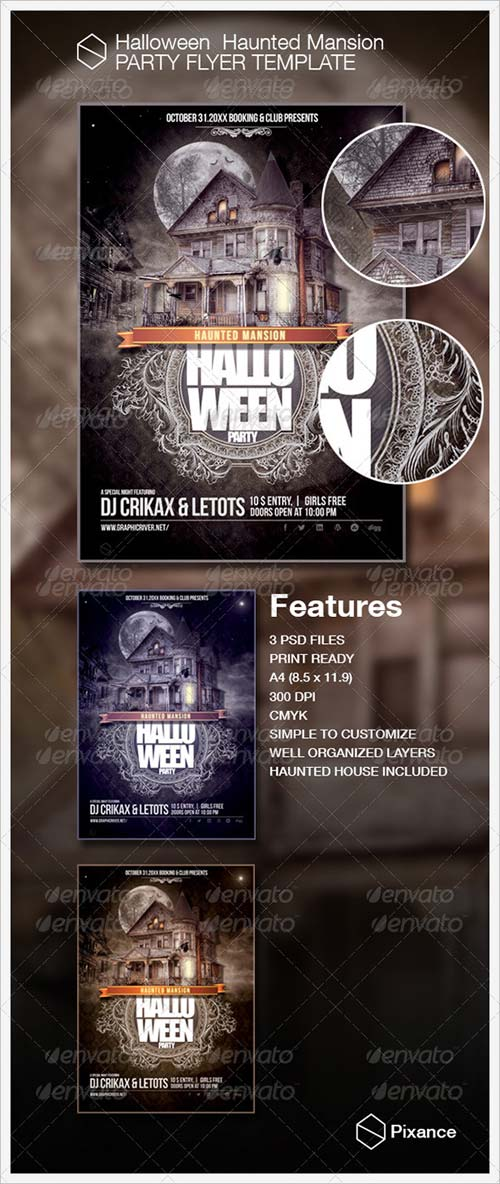 GraphicRiver Halloween Party Flyer Template 5423442