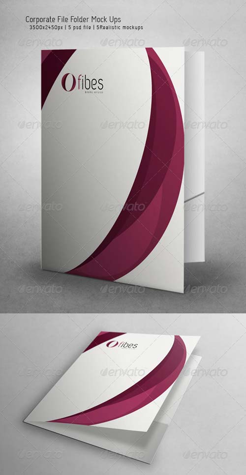GraphicRiver Corporate File Folder Mock Ups
