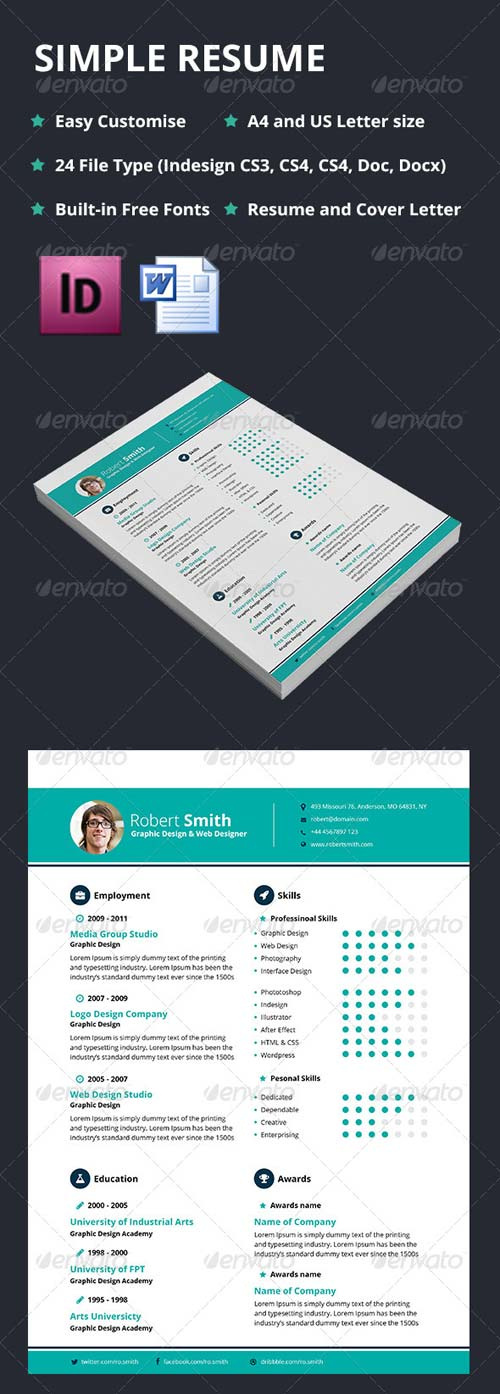 GraphicRiver Simple Resume