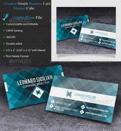 GraphicRiver Creative Business Card - Mosaic