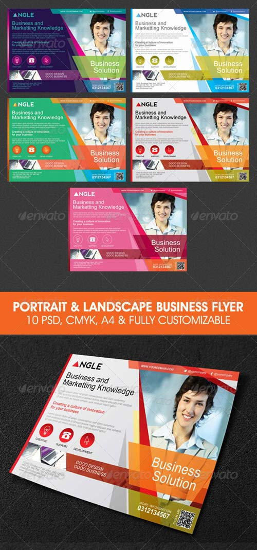GraphicRiver Portrait and Landscape Modern Business Flyer
