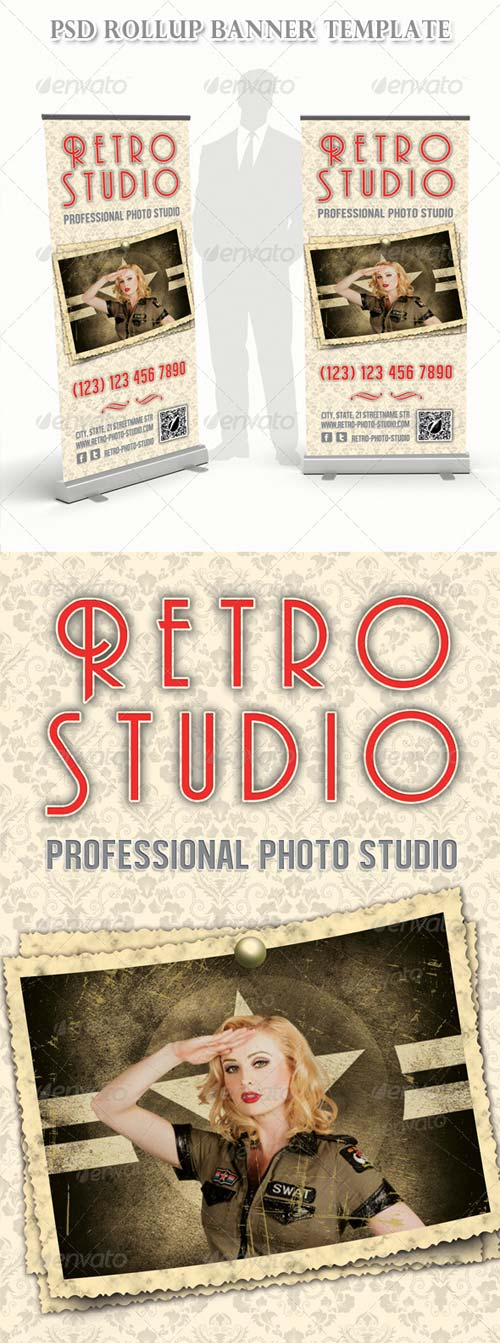 GraphicRiver Retro Photo Multipurpose Banner 02