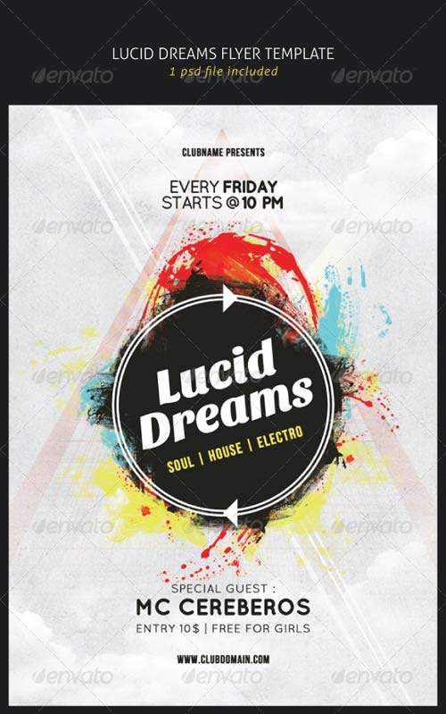 GraphicRiver Lucid Dreams Flyer Template