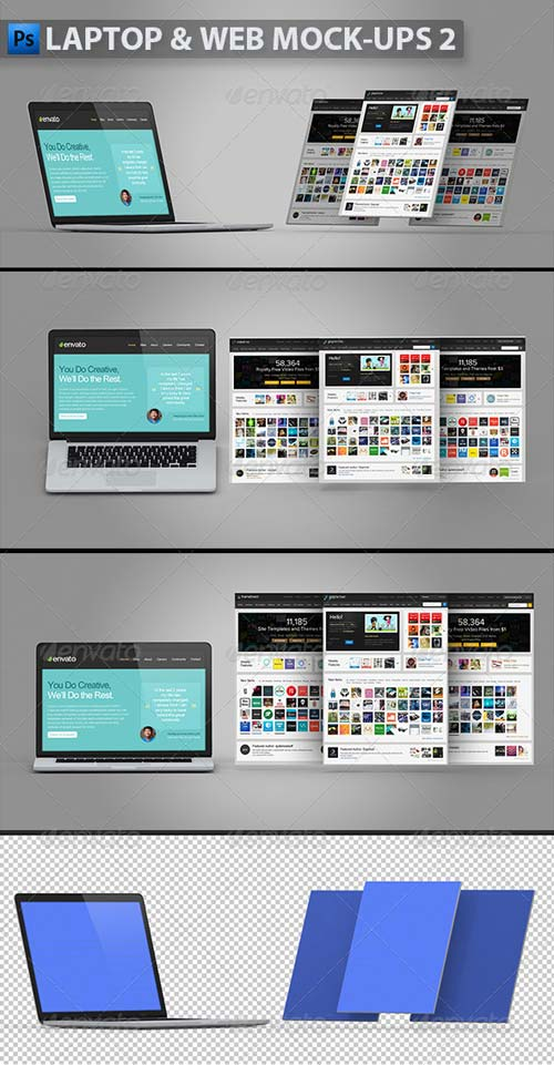 GraphicRiver Laptop and Web Mock-ups 2