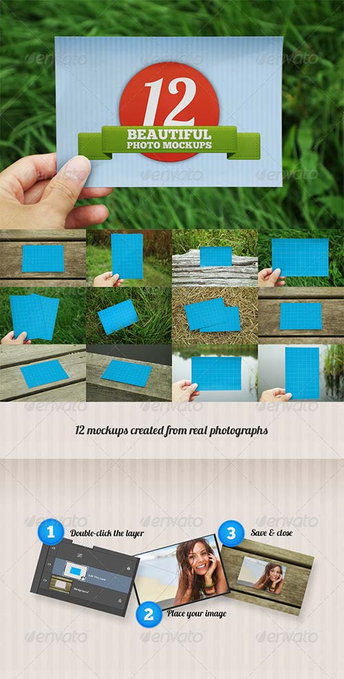 GraphicRiver 12 Beautiful Photo Mockups