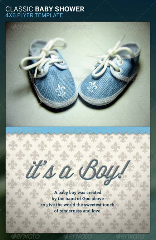 Classic Baby Shower Flyer Template
