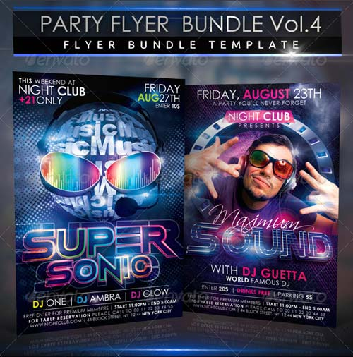 GraphicRiver Party Flyer Bundle 2 in 1 Vol4