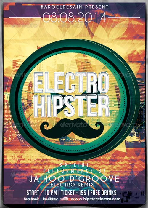 GraphicRiver Electro Hipster Party Flyer Volume 2