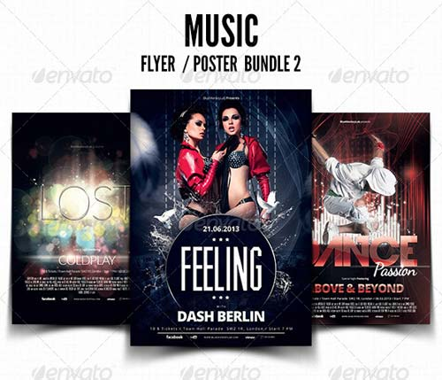 GraphicRiver Music Flyer / Poster Bundle 2