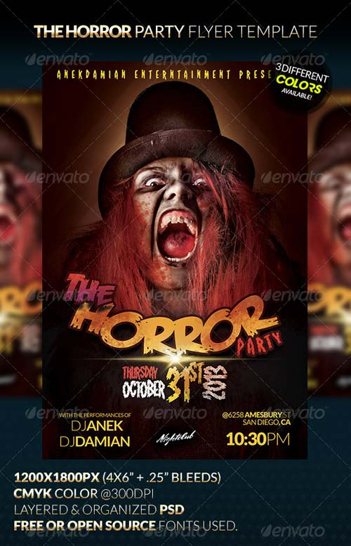 GraphicRiver HORROR Party Flyer Template