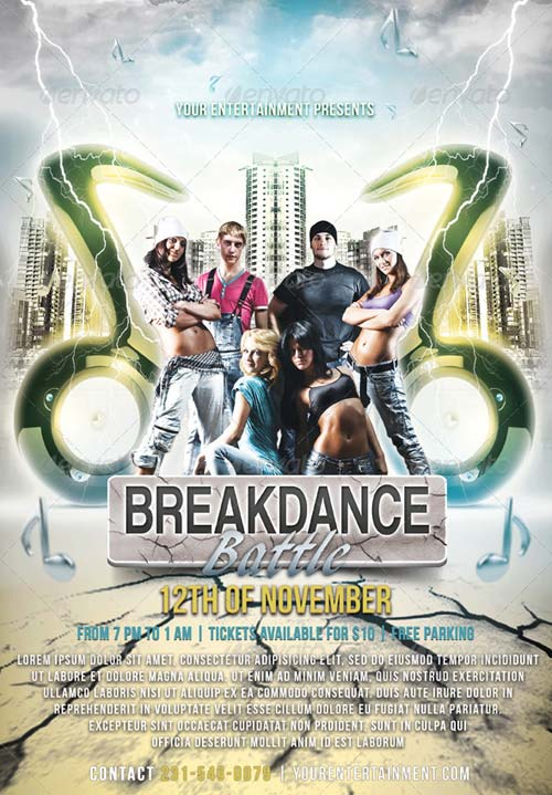 GraphicRiver Break Dance Flyer V3