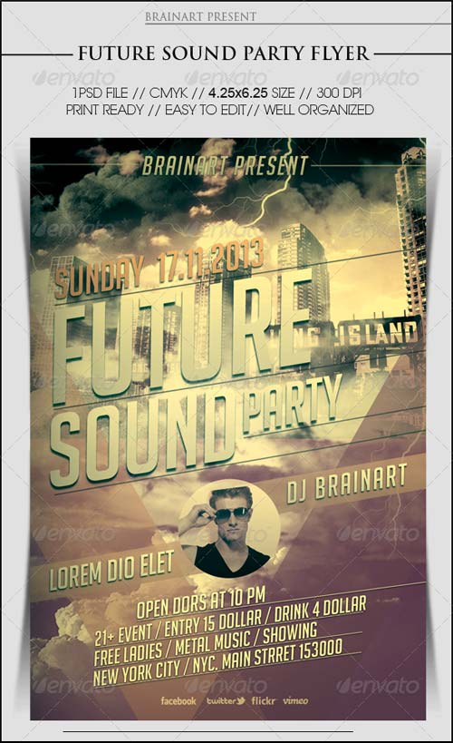 GraphicRiver Future Sound Party Flyer