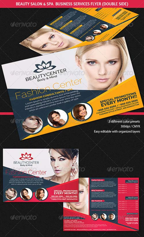 Graphicriver Beauty Center Spa Business Services Flyer