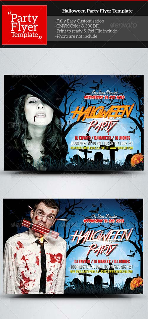 GraphicRiver Halloween Party Flyer Template 5740598