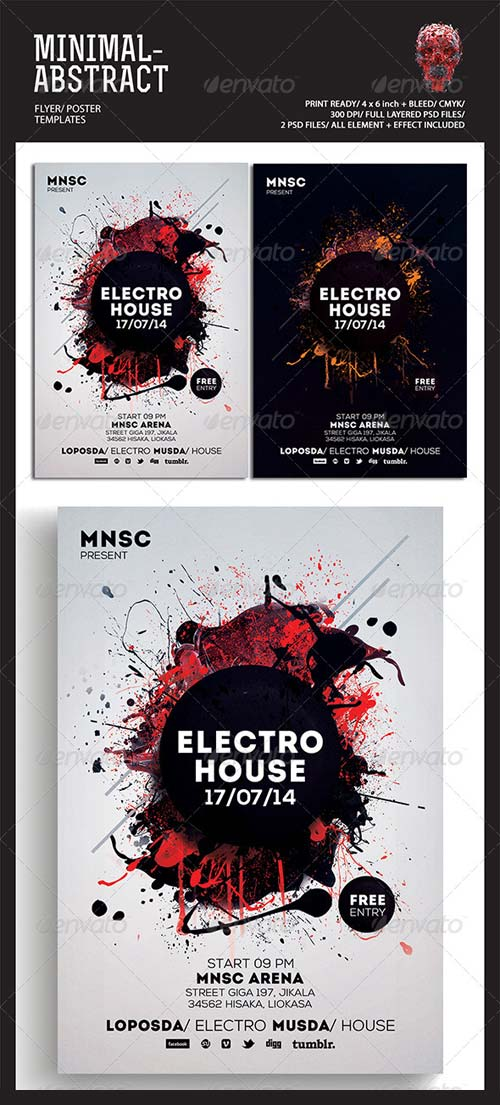 GraphicRiver Minimal Abstract Flyer Templates