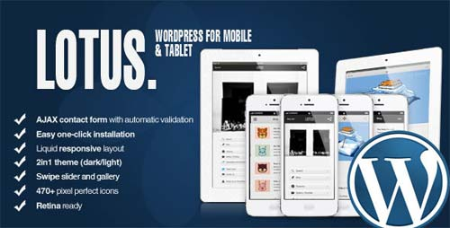 ThemeForest - Lotus - Mobile and Tablet | WordPress & Retina