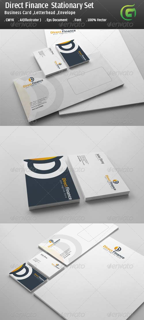 GraphicRiver Direct Finance Stationary Design