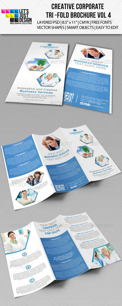 GraphicRiver Creative Corporate Tri-Fold Brochure Vol 4