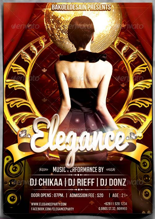 GraphicRiver Elegance Night Party Flyer