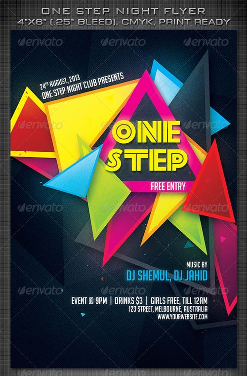 GraphicRiver One Step Night Party Flyer