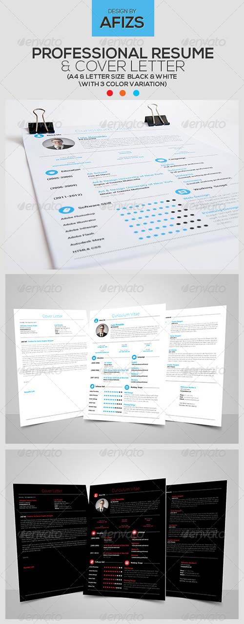 GraphicRiver Professional Resume & Cover Letter