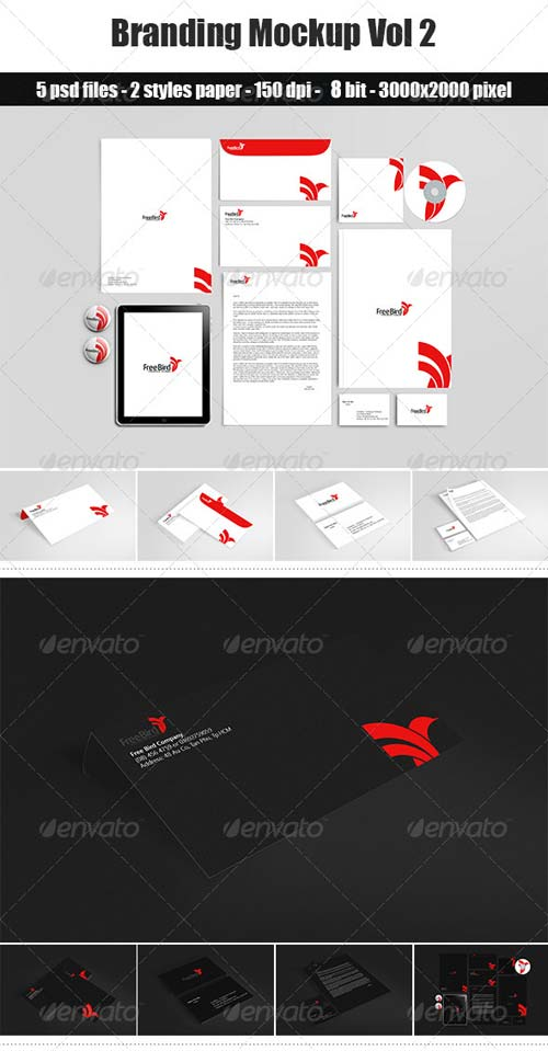 GraphicRiver Branding / Stationery Mockup Vol 2