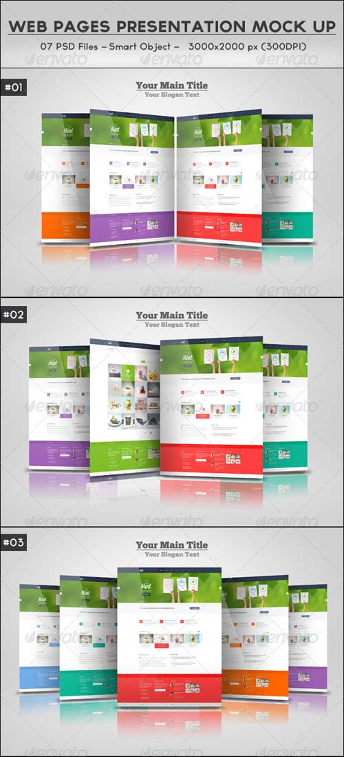 GraphicRiver Web Pages Presentation Mock Up