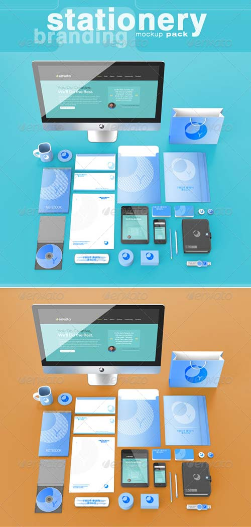 GraphicRiver Branding / Stationery Mock-Up Pack
