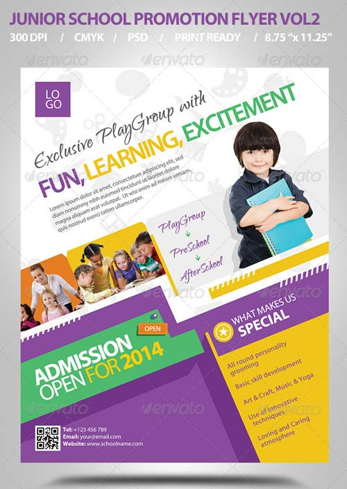 GraphicRiver Junior School Promotion Flyers Vol2