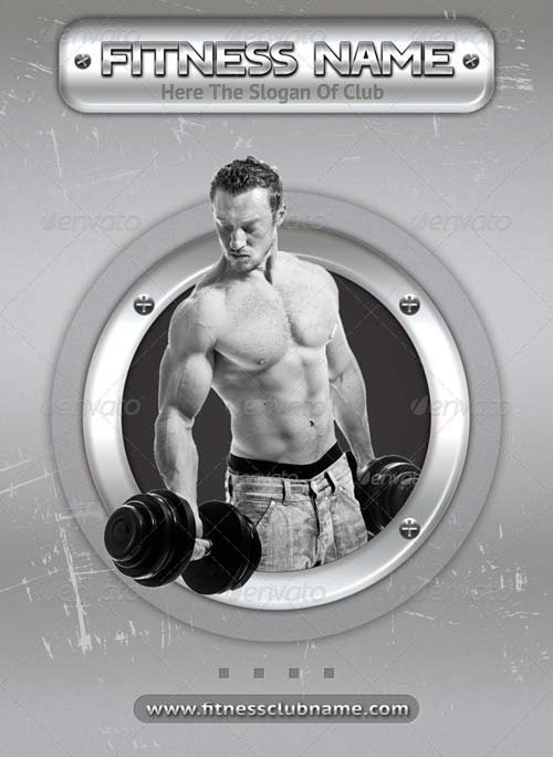 GraphicRiver Fitness and Bodybuilding 2 Sides Flyer Template 09